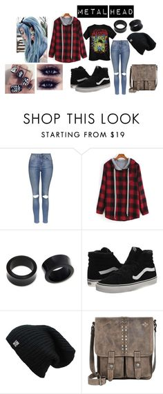 """Metal head"" by spookyblackcat ❤ liked on Polyvore featuring Topshop, NOVICA, Vans and Patricia Nash"