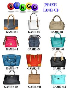 Designer Bag Bingo Flyer | Fundraising Event Flyer | Bingo ...