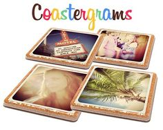 Customizable Instagram Coaster Set, very cute gift