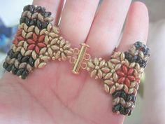 Beads and stuff: Bracelet superduo - winter and autumn - Norwegian Patterns - Herringbone ;)