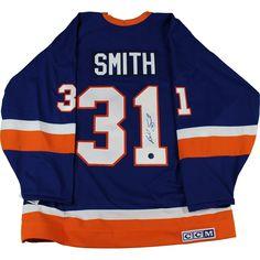 Billy Smith Signed New York Islanders Retro CCM Hockey Jersey (AJ Sports Auth)
