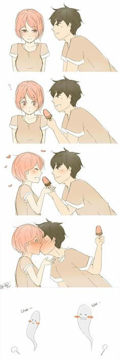 In barley illustration, relationship amorous and 365 design repository 1 … and most simple parfait 🙂 Couples Comics, Funny Couples, Cute Anime Couples, Animé Romance, Manga Romance, Couple Manga, Anime Love Couple, Anime Comics, Cute Relationships