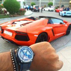 Dietrich OT4 ✖️ Atolyestone ✖️ Lamborghini Aventador   via: @dietrich_uae_om…