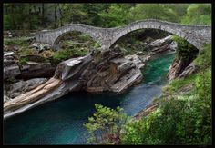 Valle Verzasca, Switzerland  Jumped into the water many times here!