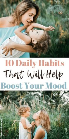 10 Daily Habits That Help Boost Your Mood // This Little Nest -- #selfcare #parenting Girl Life Hacks, Girls Life, Mom Hacks, How To Control Anger, Positive Mindset, Positive Life, Mental Health Support, Funny Mom Quotes, Mom Advice