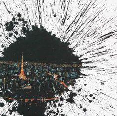 """Saatchi Art Artist Jieun Park; Cityscape Painting, """"A little talk-Tokyo"""" #art"""