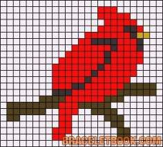 New Photo knitting charts birds Concepts trendy knitting charts birds perler beads Easy Cross Stitch Patterns, Simple Cross Stitch, Cross Stitch Cards, Cross Stitch Embroidery, Hama Beads, Fuse Beads, Perler Patterns, Quilt Patterns, Loom Beading