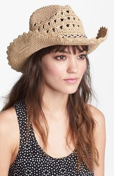 Tarnish Crochet Cowboy Hat on shopstyle.com