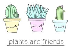 cactus, cute, pastel, plants, transparent, plants are friends