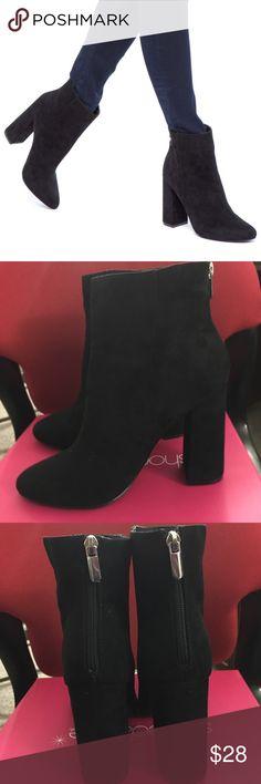 Black high Heel Booties Black Suede High Heel Booties With Zipper On Back Shoe Dazzle Shoes Ankle Boots & Booties