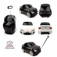 TOYOTA Camaro Toy Kid Wheeled Travel Case Carry On Rolling Luggage Black/White #WINGHOUSE