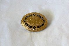 Antique Collar Gold tone Brooch Pin by MargsMostlyVintage on Etsy, $21.00