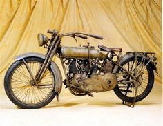 Steve McQueen's 1917 Harley, at the Wheels Through Time Museum in Maggie Valley, North Carolina