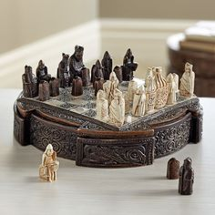 Miniature Isle of Lewis Chess Set | National Geographic Store