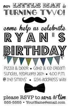 Custom Little Man Birthday Party Printable by GreenElephantPrints