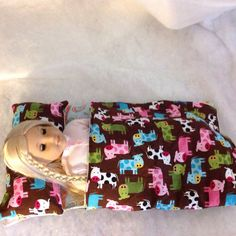 A personal favorite from my Etsy shop https://www.etsy.com/listing/254258450/american-girl-18-doll-sleeping-bag-with