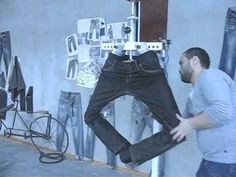 BENDABLE LEG WITH STATION FOR 3D CRINKLE EFECT ON JEANS - YouTube