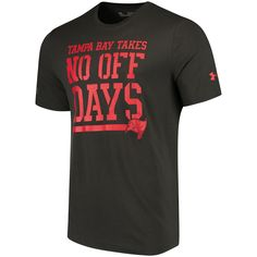 a4483b19fcf Under Armour Tampa Bay Buccaneers Pewter Combine Authentic No Days Off  T-Shirt