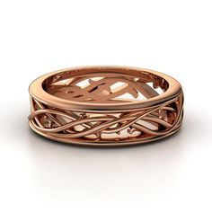 Men's 14K Rose Gold Ring  | Vine Band | Gemvara