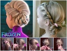 Elsa frozen hair style