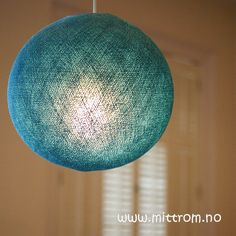 Show details for Cable and Cotton Lampshade Turquoise Medium