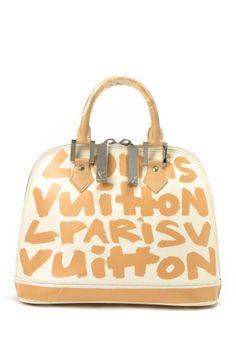 e855cace45c0 Vintage Louis Vuitton Leather Sprouse Graffiti Alma MM Limited Edition  Handbag Louis Vuitton Handbags Sale
