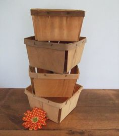 This listing is for a set of four (4) vintage wooden berry boxes. Description from etsy.com. I searched for this on bing.com/images