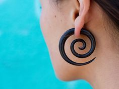 Fake Gauges tribal style Wood Earrings Organic by TribalStyle