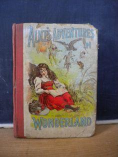 1800's Alice in Wonderland Hardcover Book / by JMFindsandDesigns