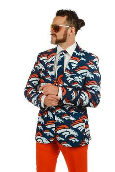 The Denver Broncos Suit Jacket - Shinesty