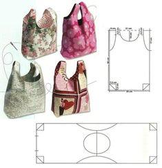 Bag Patterns To Sew, Sewing Patterns, Japanese Knot Bag, Japanese Apron, Diy Sac, Craft Bags, Patchwork Bags, Denim Bag, Fabric Bags
