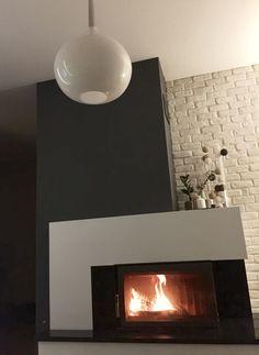 Fireplace, lighting, cotton balls