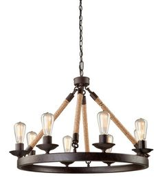"8 LIGHT ROUND CHANDELIER SUSPENDED :: DINING & BEDROOM CHANDELIERS <BR>(20""-34"" DIA.) :: Ceiling lights Toronto, Bath and vanity lighting, Chandelier lighting, Outdoor lighting and kitchen lights :: Union"