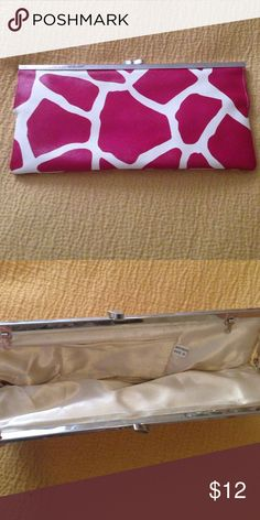 Beautiful clutch Pink animal print clutch. Pre-loved, beautiful condition. No chain attached. Bags Clutches & Wristlets