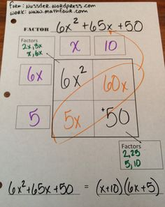 I already do this thanks to the best mentor I ever had Mrs. Wood but I am loving the worksheet.  Factoring Polynomials – FREE Worksheet | MathFour