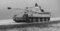 "A German Panther tank in ""winter colors"""
