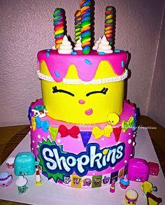 "2 tier ""Shopkins"" Birthday Cake"