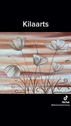 Small Canvas Paintings, Diy Canvas Art, Oil Painting Abstract, Diy Painting, Watercolor Flowers Tutorial, Canvas Painting Tutorials, Art Drawings For Kids, Art Pictures, Crafts