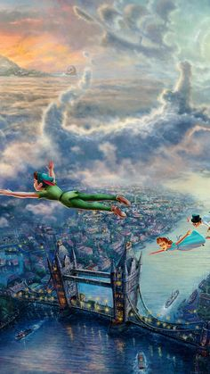 Peter Pan ★ Find more Cute Disney wallpapers for your #iPhone + #Android @prettywallpaper
