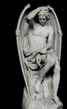 """""""El genio del mal"""". Por Guillaume Geefs, 1848. http://iglesiadesatan.com/"""