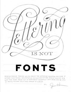 lettering is not fonts