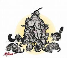 Cats by B. Kliban