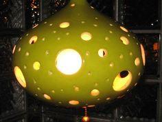 Swag Lamp Ceramic Light Fixture Retro Mid Century Hanging Mod For Sale