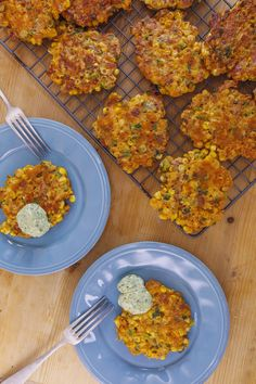 Corn-Fritter Poppers with Avocado-Ranch Sauce
