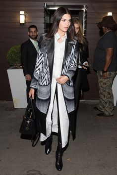 Oh Kendall, how we love your style! The star put her own twist on a leather trousers, white shirt and blazer combo for BFF Gigi Hadid's birthday party - and it's just all kinds of amazing. - Cosmopolitan.co.uk