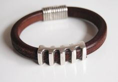 Men's Dark  Brown Licorice Leather by FerozasjewelryForMen on Etsy, $40.00