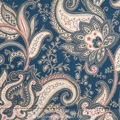 Imperial - Denim Paisley Yardage - Waverly - Quilting Treasures