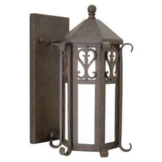 2nd Ave Design Caprice 1 Light Outdoor Wall Lantern Finish: Gilded Tobacco, Shade Type: Real Mica
