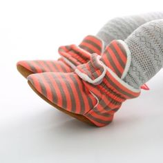 Stripe Slipper Boots - 7 Colors! Striped Slippers, Warm Snow Boots, Cheap Boots, Girls Heels, Cute Toes, Slipper Boots, Baby Winter, Baby Booties, Baby Wearing