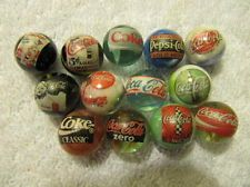 Coca Cola Soda LOT OF 13 5/8 size Collectors GLASS MARBLES !! LOOK!